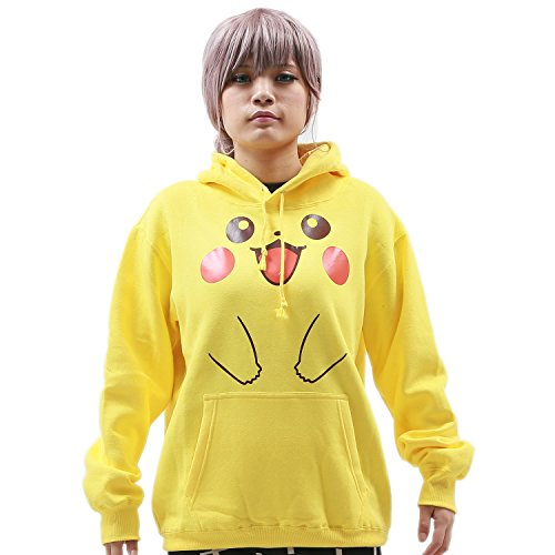 XCOSER Valentine Couple Pullover Hoodies Sweatshirt Lined Fleece Jacket Yellow XL