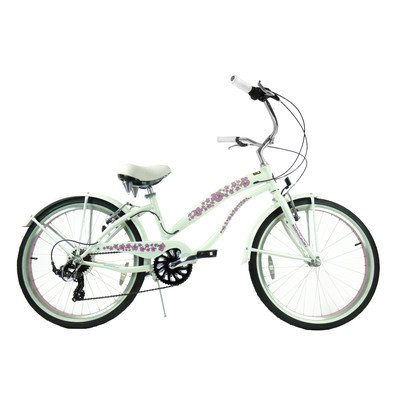 Women's 7 Speed Beach Cruiser Frame Color: Pearl White
