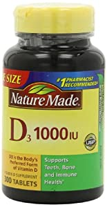 Nature Made Vitamin D 1,000 I.u., Value Size, 300-Count