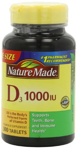 Nature Made Vitamin D3 1,000 I.u., Value Size, 300-Count