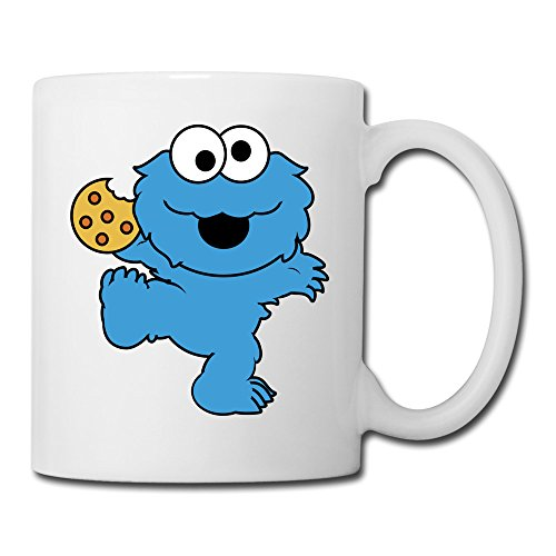 ERICP Children's Television Show Nom Nom Nom Cookie Monster Ceramic Coffee Mug