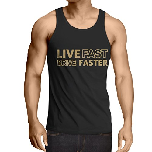 N4449V-Camiseta-sin-mangas-Live-Fast-Drive-Faster-X-Large-Negro-Oro
