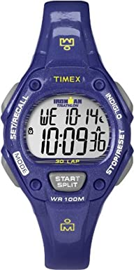 Timex Women's T5K6879J Ironman Traditional 30-Lap Glimmer Mid-Size Twilight Purple Resin Strap…