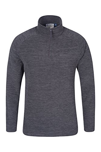 mountain-warehouse-mens-snowdon-casual-half-zip-antipill-microfleece-snowdon-fleece-pullover-charcoa