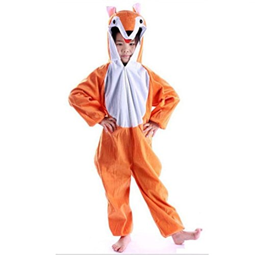 Lovely Kids Unisex Children Pajamas Anime Cosplay Costume Fox