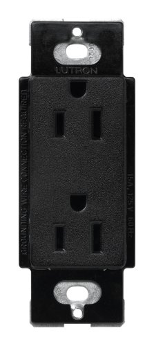Lutron Scr-15-Mn Satin Colors 15A Electrical Socket Duplex Receptacle, Midnight