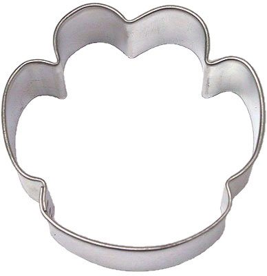 PAW PRINT DOG 2.25 in. cookie cutter B1660