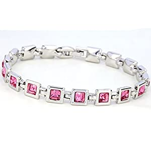 Europe American Diamond-Encrusted Crystal Bracelet