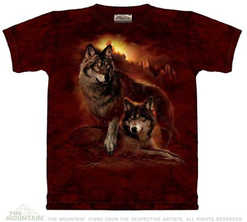 The Mountain Wolf Sunset Purple T-shirt XL