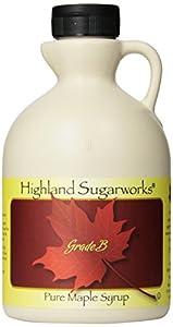 Highland Sugarworks Jug 100% Maple Syrup, Pure Grade B, 32 Ounce
