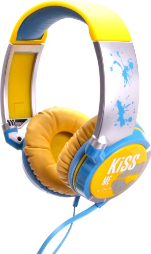 Best Buy! iDANCE KM300 KiSS ME Headphones - Yellow-Blue-Silver