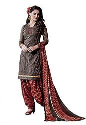 Subhash Sarees Daily Wear Grey Color Chanderi Salwar Suit Dress Material
