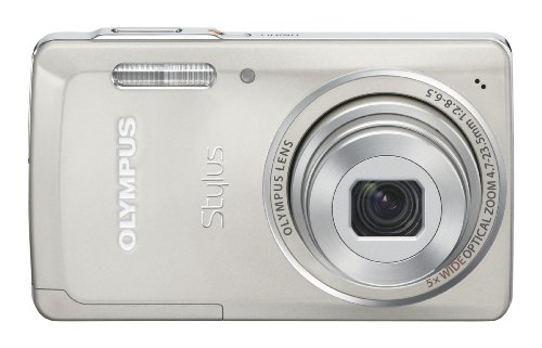 Olympus Stylus 5010 14 MP Digital Camera With 5x Wide Angle Dual Image Stabilized Zoom And 27 Inch LCD Titanium