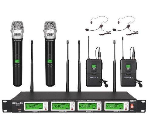 Gtd Audio G-787Hl Uhf Diversity Wireless Microphone Lapel Lavaliere Mic