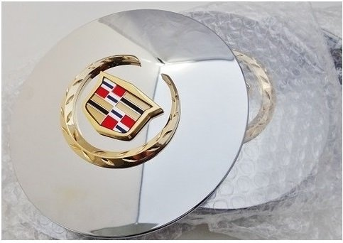 """CADILLAC /""""STS/"""" NEW STYLE EMBLEM 2005 06 07 2008 09 10 2011 24K Gold Plated!"""