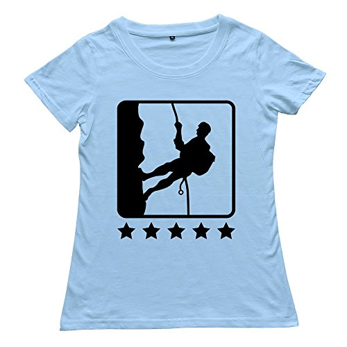 Goldfish Women'S Online Unique Climbing Icon Stars T-Shirt Skyblue Us Size S