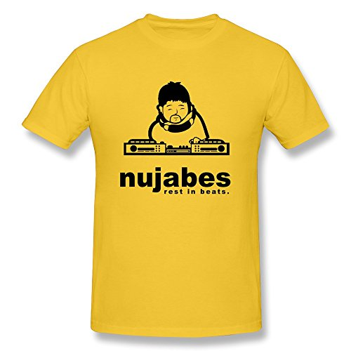 ZLSJ Men's T-shirt Wpid Nujabes Wallpaper 5 Size XXL Yellow (Rip Boogie Board compare prices)