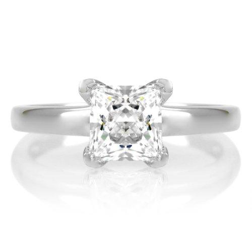 Annie's Petite Promise Ring - .5 CT Princess Cut CZ