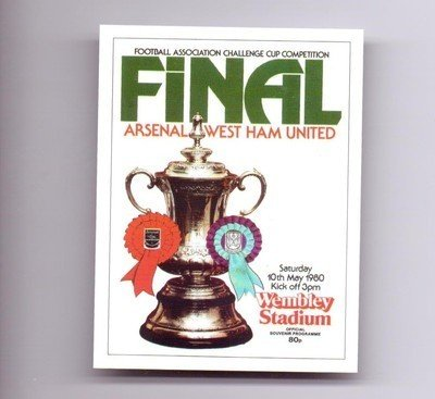 FA-Cup-Final-1980-Programme-Cover-Arsenal-West-Ham-United-football-card