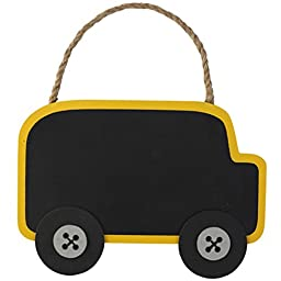 Mud Pie School Bus Chalkboard Sign Keepsake