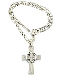 veritas aequitas polished cross pendant w 24