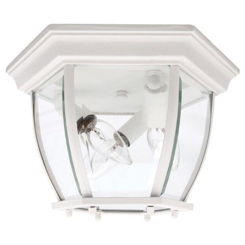 Capital Lighting 9802WH 3 Light Outdoor Close to Ceiling Light