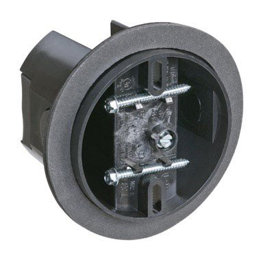 Carlon Cfb-16-F Ceiling Fan Box, Saddle, New/Old Work, 4-Inch Diameter By 3-5/16-Inch Depth, Black
