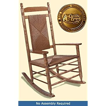 Adult Woven Seat Rocking Chair - Hardwood