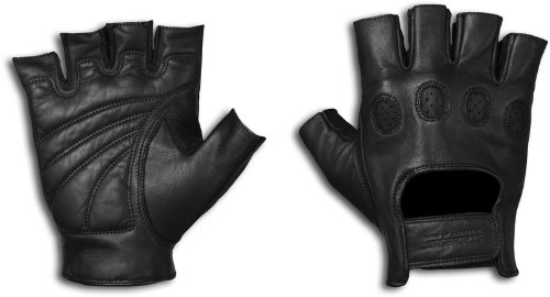 StrongSuit 20600-S On Tour Fingerless Motorcycle Gloves, Small
