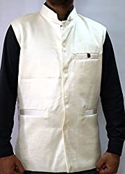 Nuvo Rise Export Men's Nehru Jacket_123450_Off White_M