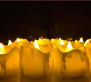 Amazon Xcellent Global Set Of 12 Led Timer Candle Lights Mood