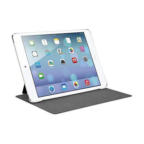 iBUFFALO iPad mini 3 (2014年) レザーケース フリーアングル 液晶保護フィルム付 ホワイト BSIPD714LWH 【自由な角度で立てられるスタンド機能付】