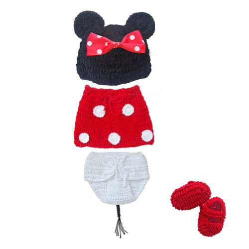 EFE Baby Knit Mouse Photo Prop Costume Outfit Size 0-12 Month
