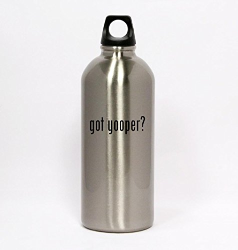 got yooper? - Silver Water Bottle Small Mouth 20oz (Yooper Bars compare prices)