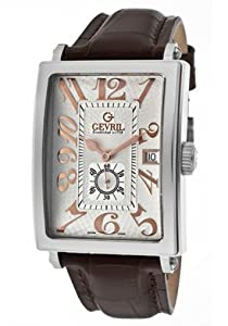 Gevril Men's 5045A Avenue of America Swiss Handcrafted Rose-Gold Sub-Second Leather Watch from Gevril