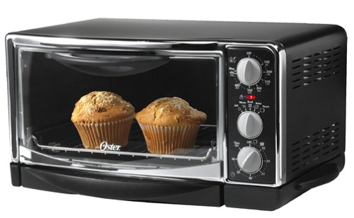 Oster 6232 6 Slice Toaster Oven Black With Chrome Accents