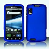 Royal Blue Rubber Touch 2pcs Phone Protector Hard Cover Case for Motorola A ....