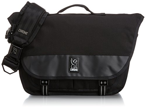Chrome BG-175-ALLB-000 Black/Black One Size Mini Buran Waterproof Messenger Bag with Black Buckle