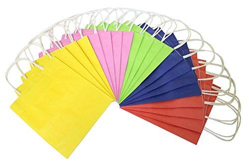 Folia 21209 - Papiertüten Kraftpapier, 12 x 5.5 x 15 cm, 20 Stück, farbig sortiert