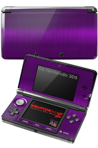 Nintendo 3Ds Decal Style Skin - Brushed Metal Purple front-259641