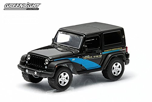 2012 JEEP WRANGLER / GENEVA, ILLINOIS * 2015 Hot Pursuit Series 15 * Greenlight Collectibles 1:64 Scale Limited Edition Die-Cast Vehicle
