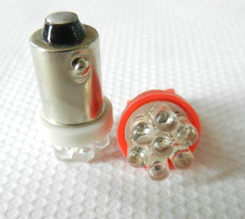 Everbright (Pack Of 20Pcs) Ba9S 4 Led / Ba9S 7 Led D12V Clearance Wedge Light License Plate Lamp Width Light Instrument Lamp (Ba9S-7Led-White)