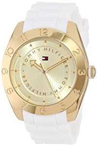 Tommy Hilfiger Women's 1781354 Cool Sport Gold-Plated Numbered Bezel Watch