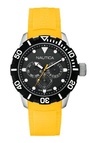 Nautica A13644G - Reloj de pulsera unisex, caucho, color amarillo