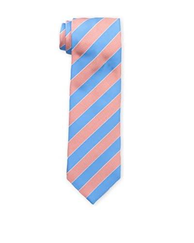 Rossovivo Men's Oro Sir Stripe Tie, Red/Blue As You See