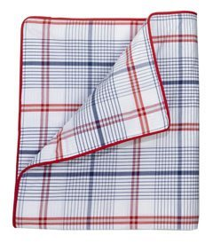 Whistle & Wink Twin Duvet Cover Blue Red Plaid