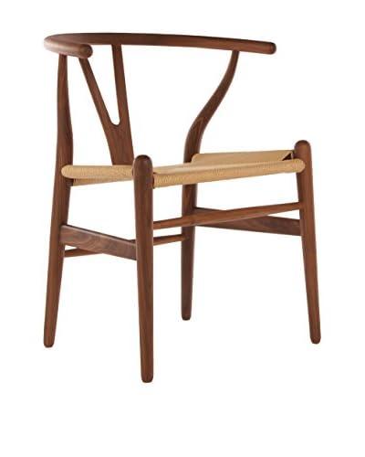 Macer Home Wishbone Chair, Brown