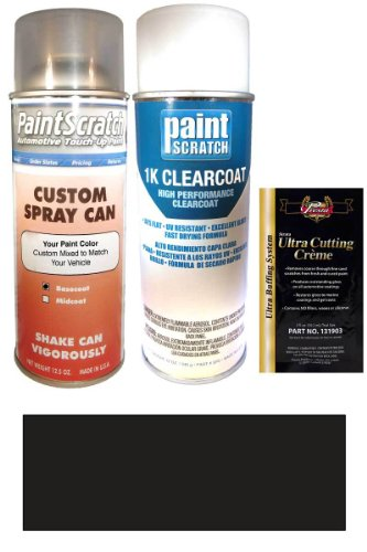 2006 Hummer H1 Black Diamond Metallic B34 Touch Up Paint Spray Can Kit - Original Factory Oem Automotive Paint - Color Match Guaranteed