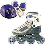 Roller Derby Girls PRO 90 Formula Z Pack Inline Skates, Large (3-6)