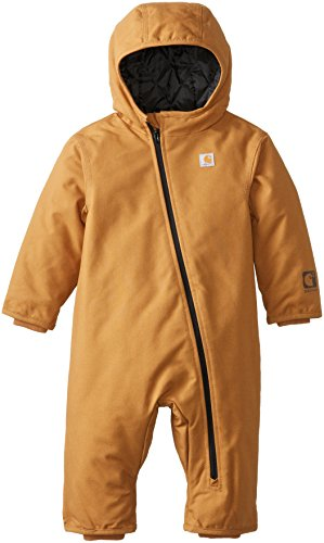Carhartt Baby-Boys Quick Duck Snowsuit, Carhartt Brown, 6 Months front-970360